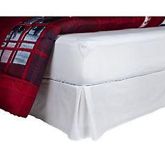 Plumón teléfono + sábana + faldón blanco 2 plazas