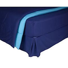 Plumón bicolor azul/calipso + sábana 144 hilos + faldón azul 1,5P