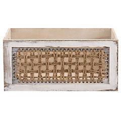 Caja de madera con tejido 37 cm