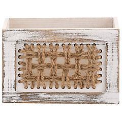Caja de madera con tejido 23 cm