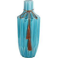 Florero ceramica azul 37 cm