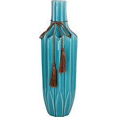 Florero ceramica azul 26 cm