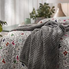 Manta zigzag gris 120x150 cm