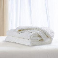 Manta sherpa blanco 120x150 cm