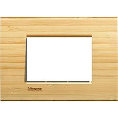 Placa rectangular 3 módulos bambú