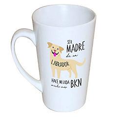 Tazón cónico labrador retriever café