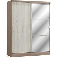Closet 2 cajones 2 puertas gris claro