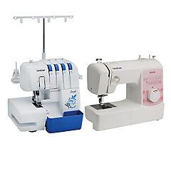 Combo overlock + máquina de coser con 25 puntadas