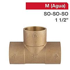 Tee SO-SO-SO bronce 1 1/2