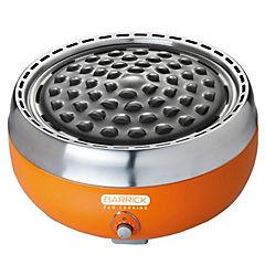 Parrilla carbón portátil acero inox con ventilador