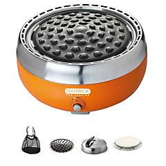 Parrilla carbón portátil ventilador+ accesorios para cocinar