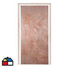 Puerta interior 60x200 cm terciado con marco 30x70 mm 5,4 m