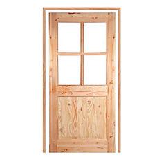 Puerta pino oregón 85x200 cm vetro con marco 40x90 mm 5,4 m