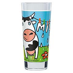 Vaso leche vaca ropa