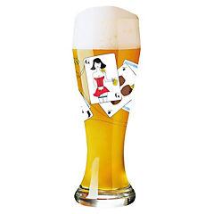 Copón cerveza rubia diseño cartas