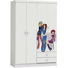 Closet 2 cajones 4 puertas blanco con diseño