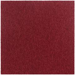 Alfombra en palmeta rojo 50x50 cm 20 unidades