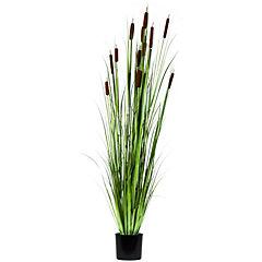 Planta artificial grass con deco