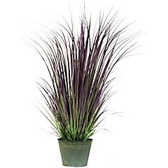 Planta artificial grass redondo morado