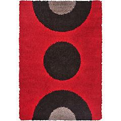 Alfombra Shaggy 150x200 cm rojo