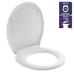 Asiento wc redondo duroplastic soft touch