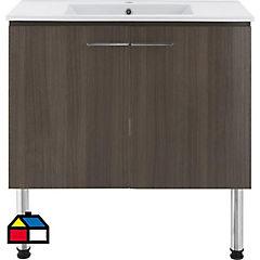 Mueble vanitorio ebba loza 90x45x60 cm ds2 2 puertas
