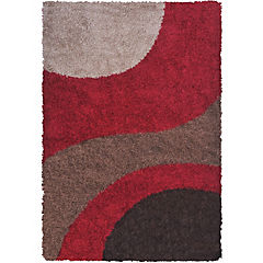 Alfombra Shaggy 133x180 abstracto