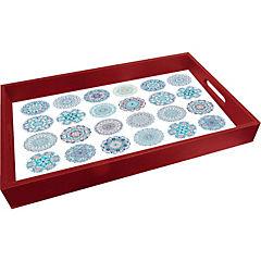 Bandeja 34x52 cm mandalas Azules