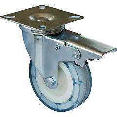 Rueda pvc 50 mm 30 kg con freno