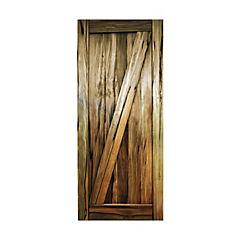 Puerta c/diagonal madera mañio 200x80
