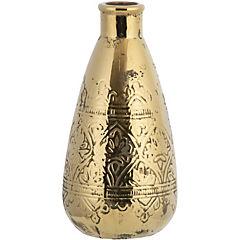 Vasija cerámica diseño 33 cm dorado