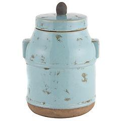 Urna cerámica 25,5 cm celeste