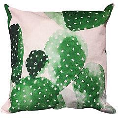 Cojín lino cactus 45 x 45 cm