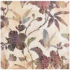 Canvas con aplicación de gel 60x60 cm  composicion hojas coloridas 1