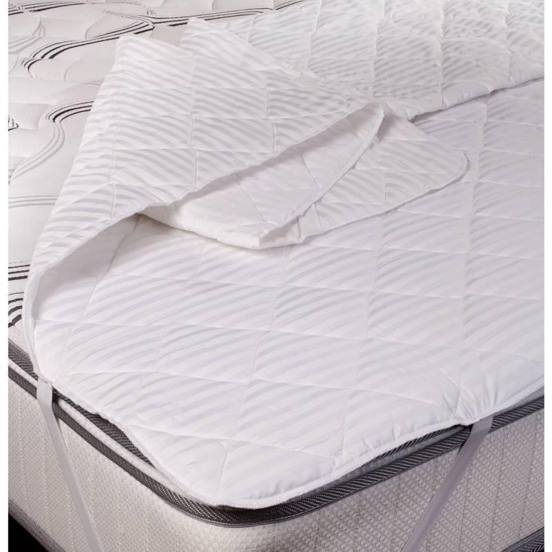 KEYHOME - Cubrecolchón microfibra 2 plazas blanco