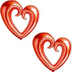 Pack globo corazón giga rojo 2 unidades