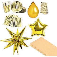 Pack gold chevron 12 personas