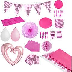 Pack chevron rosado 20 personas