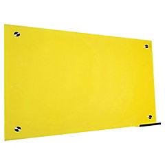 Pizarra de vidrio muro amarilla 120x80cm