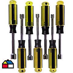 Destornillador punta para tubo 7 piezas  en mm