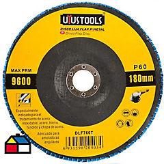 Disco lija flap para metal 180 mm #60
