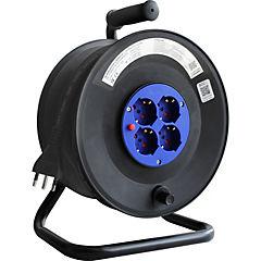 Alargador carrete industrial 4p negro 40 m