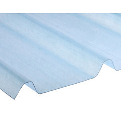 1,2mm x 1,0x6,0m plancha fibra de vidrio pv4 color traslúcido natural