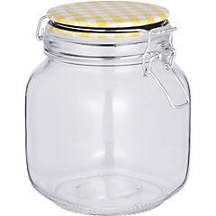 Frasco de vidrio 15,5 cm amarillo