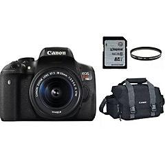 Kit cámara canon eos rebel t6i ef-s 18-55mm + bolso + tarjeta 16gb