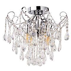 Lámpara de colgar Vidrio y metal Alaran Transparente