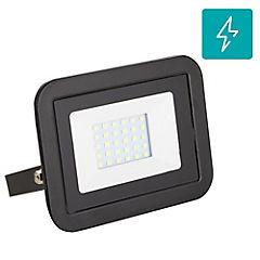 Reflector led 20 W luz fría negro