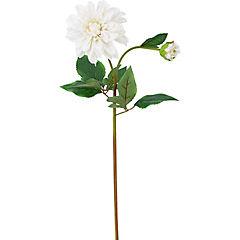 Flor dalia 59 cm color blanco