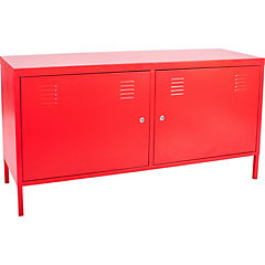 TV cabinet 119x63x40 cm Rojo