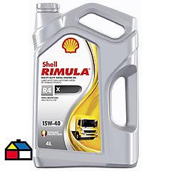 Aceite para motor rimula r4 x 15w-40 4 litros